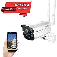 REDI 720P WiFi Wireless IP Security Cámara Bala(resistente al agua) Monitor de Seguridad Cámara de seguridad inalámbrica/camara vigilancia exterior Admite tarjeta SD 128G(no incluye) Vision Nocturna