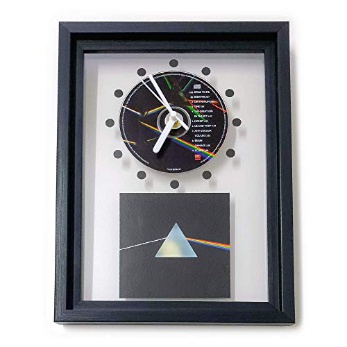 PINK FLOYD - The Dark Side Of The Moon: GERAHMTE CD-WANDUHR/Exklusives Design