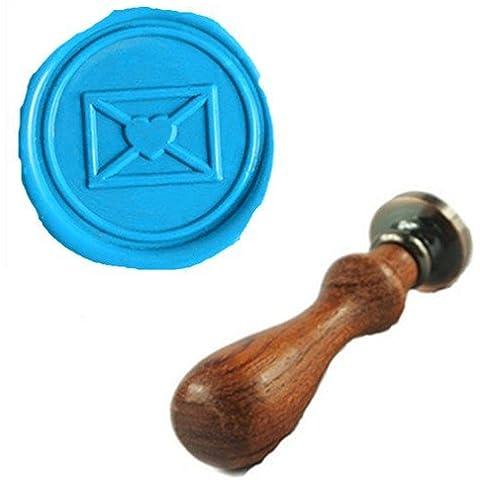 mdlg Vintage Amore Cuore Custom Immagine Logo invito di matrimonio di ceralacca sigillo timbro set kit Stamp Only