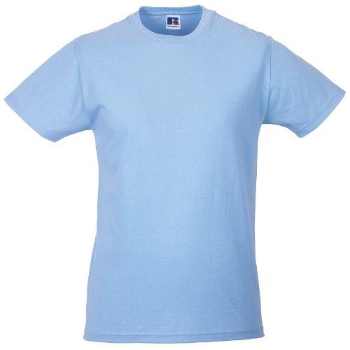 Russell - maglietta 100% cotone - uomo (l) (azzurro cielo)