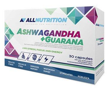 ALLNUTRITION Ashwagandha + Guarana unterstützt die Gedächtnisfunktion und Konzentration 30 Kapseln