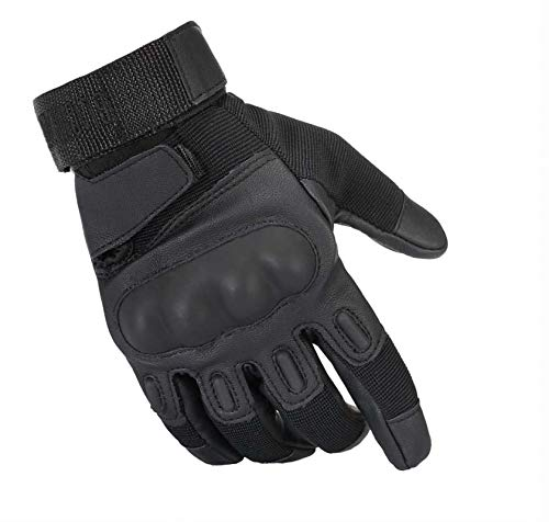 Blisfille Sport Handschuhe Damen Herren Kunstlederhandschuhe Taktik Vollfingerhandschuhe Arbeitsschutz Arbeitsversicherung Schwarze Adler Shell Vollfinger