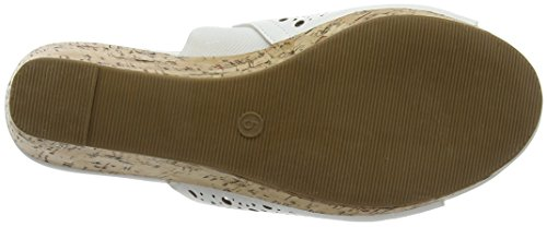 Evans - Extra Wide Punch Out, Scarpe spuntate Donna White (White)