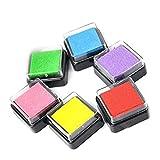 Set von 6Tintenpatronen Pads für Verwendung mit Gummi Stempel auf Papier, Holz, Stoff