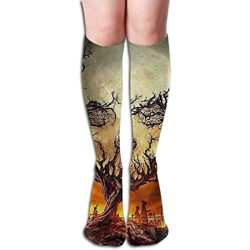der Hölle Design elastische Mischung lange Socken Kompression Kniestrümpfe (50cm) für den Sport ()