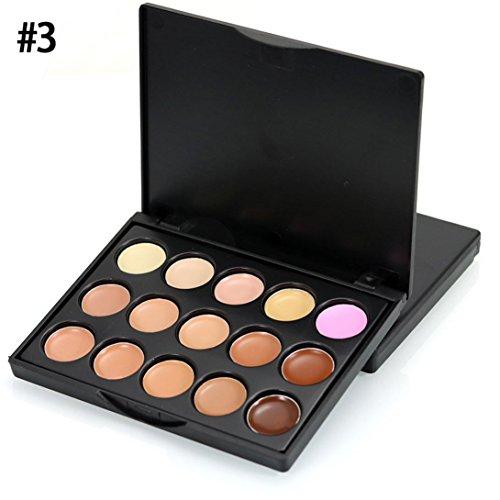 Lidschatten, Hunpta Schimmert und Matt Hautfarben Ultra 15 Lidschatten Eyeshadows Flawless Palette (#3)