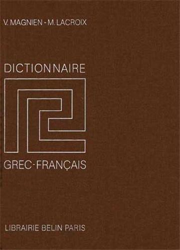 Dictionnaire grec-français par M. Lacroix
