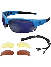 Rapid Eyewear Edge Blue UV400 PILOT SPEC SUNGLASSES For Aviation & General Sports. For Men & Women. UV400 Protection