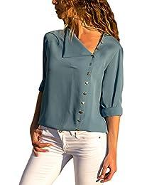 e968a6efab camicia seta - Bluse e camicie / T-shirt, top e bluse ... - Amazon.it