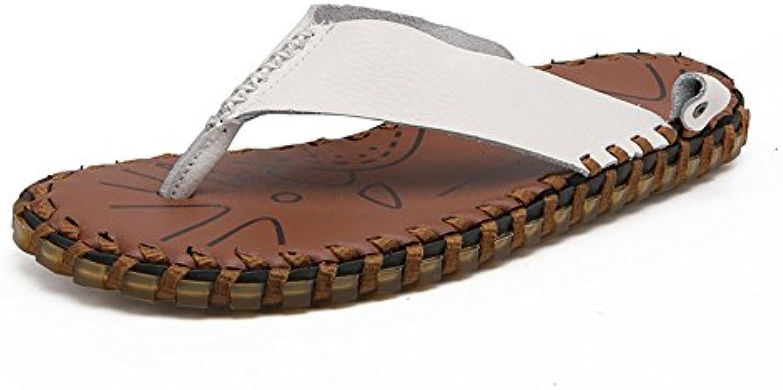Ruanyi Chancletas de la Correa de los Zapatos, Cuero Genuino del hogar y al Aire Libre Zapatillas de Playa de...