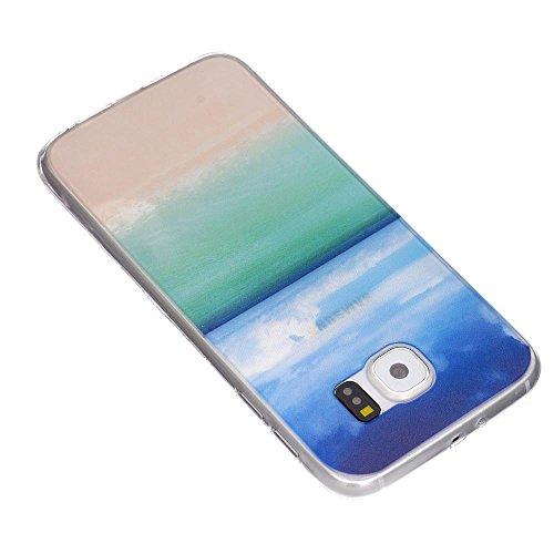 ECENCE Samsung Galaxy S4 mini i9190 Silikon TPU case schutz hülle handy tasche cover schale retro rot weiss gepunktet 12040404 Strand
