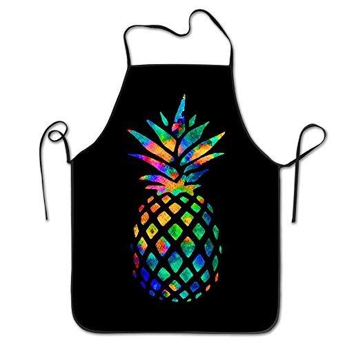 Manygoyo Lustige Schürze Chef Küche Kochen Schürze Lätzchen Watercolor Ananas Grillen Easy Care