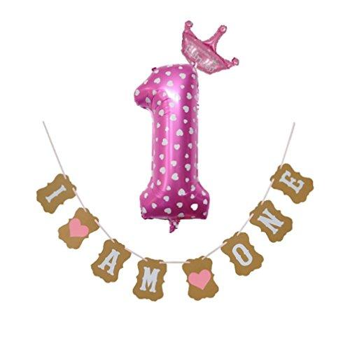 TAOtTAO 30 '' Anzahl Folienballons Digit Helium Geburtstagsfeier Banner Baby Shower Decor (A)