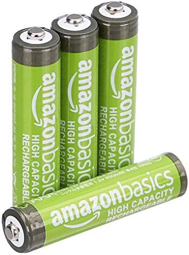 Oferta de Amazon Basics - Pilas AAA recargables de alta capacidad, precargadas, paquete de 4 (el aspecto puede variar)