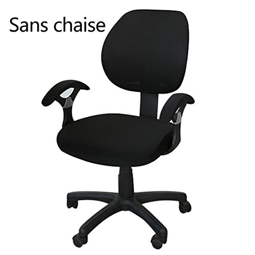 Freahap Housse de Chaise de Bureau Protection de Chaise d'ordinateur Noir