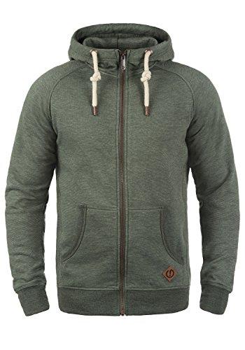 !Solid Vitu Herren Sweatjacke Kapuzenjacke Hoodie mit Kapuze und Reißverschluss aus 100% Baumwolle, Größe:L, Farbe:Climb Ivy Melange (8785)
