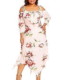 ddc9e9ba312 Robe Été Bohème Femme Grande Taille en Mousseline Imprimé Floral Maxi  Manchon Papillon Robe de Soirée Robe Femme D été Robe Sexy…