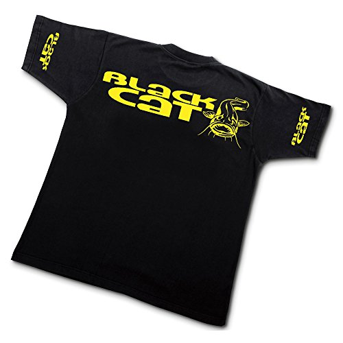 Black Cat Waller T-Shirt Gr. L (Schwarzes T-shirt Black Cat)