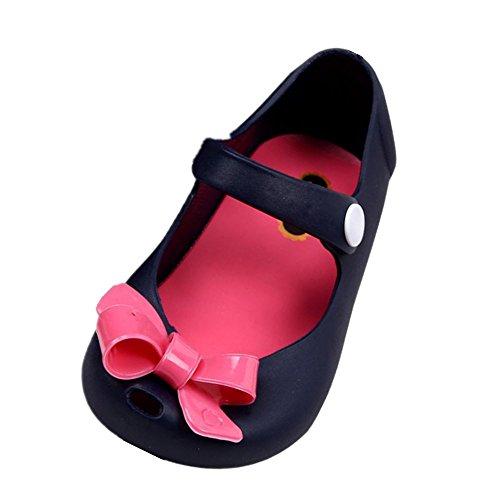 FNKDOR Baby Kinder Mädchen Gummistiefel Gummisandalen Regenstiefel Kurzschaft Schuhe (22, Blau)