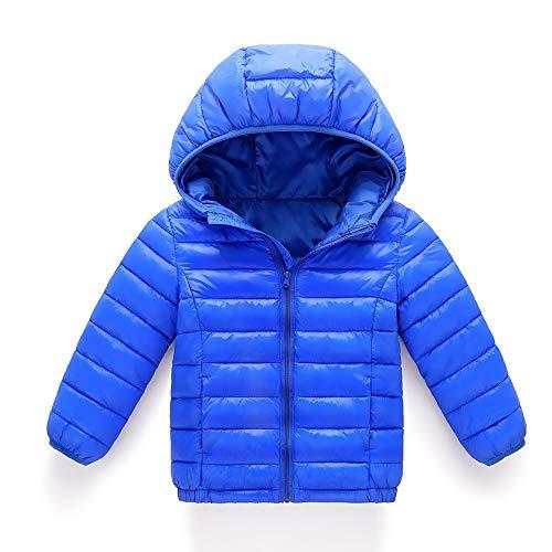 Daylin Winterjacke Mädchen Daunenmantel mit Kaputze Trenchcoat mädchen Parka Outerwear Stern Jacke