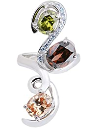 Ananth Jewels 925 Sterling Silver BIS Hallmarked Cocktail Ring For Women Ring Size Is US 7 - B078GPDJN8