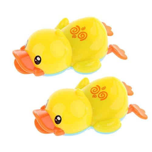 F Fityle 2 pcs Baby Badespielzeug, Wind up Schwimmen Enten Tierspielzeug, Kinder Pool Wasser Spielzeug -