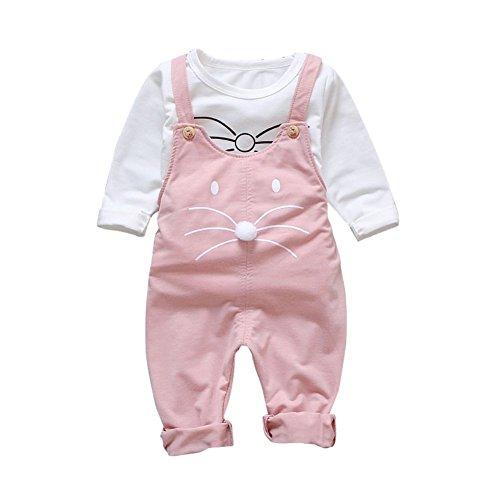 Baby-Latzhose Latzhose und Langarm-Shirt 2 Stück Herbst Frühling Outfit -