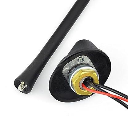 Eightwood-DAB-Antenne-Digital-Radio-FMAM-Kombi-DAB-Antenne-SMB-Stecker-DIN-Male-Adapter-Auto-Radio-Antenne-Splitter-Fahrzeug-Dachmontage-Signal-Amplifier-500cm-164ft-Flexible-23cm-MEHRWEG