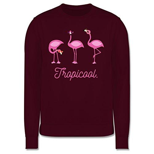 Vögel - Tropicool Flamingo Gang - Herren Premium Pullover Burgundrot