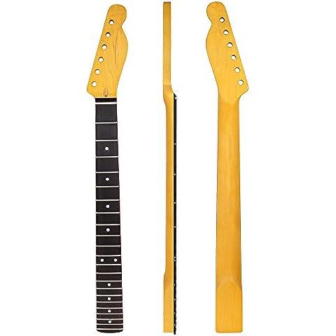 Kmise Chitarra Elettrica Collo per Fender Telecaster Tele TL parti di ricambio 22tasti Acero Tastiera in Palissandro