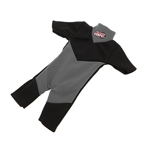 D DOLITY 1/6 Soldat Puppen Kleidung - Mini Taucheranzug Neoprenanzug Tauchen Badeanzug - Grau