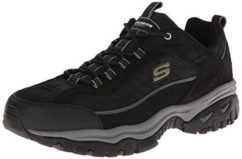 Skechers Schnürsenkel Sport Sport energieinvestition Downforce Sneaker mit, Schwarz - Schwarz - Größe: 9 D(3E) US