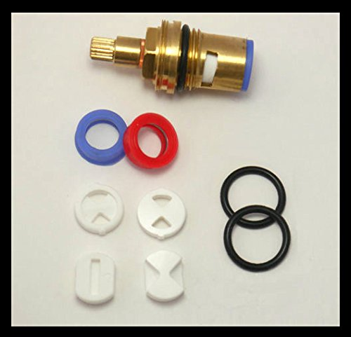 Tap Magician Replacement Ceramic Tap Cartridge Repair Kit (Discs / Silicone Gaskets / O Rings)