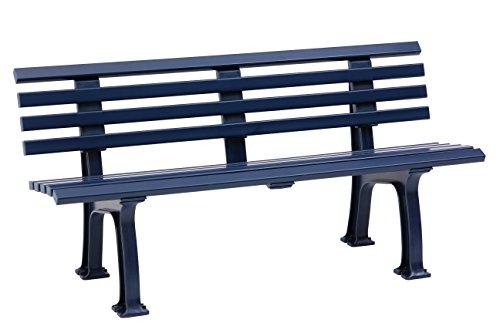 Sitzbank / Gartenbank 3-Sitzer: Sylt, Länge 150cm, blau (hochwertiger Kunststoff, Parkbank Made in Germany)