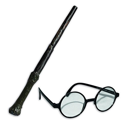 arry Potter Wand and Glasses Kit (Kostüm-Zubehör) (Harry Potter Zauberstab Und Brille)