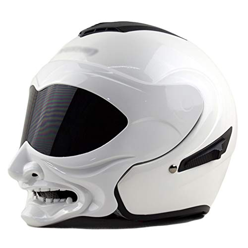 wthfwm Caschi da Moto Caschi integrali Cruiser Retro Half Helmet Quattro Stagioni Sport Outdoor cap di Sicurezza,B-XXL(60/61cm)