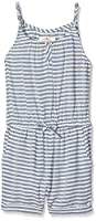 Fat Face Girl's Stripe Overalls, Blue (True Navy), 12-13 Years (Manufacturer Size: 12-13)