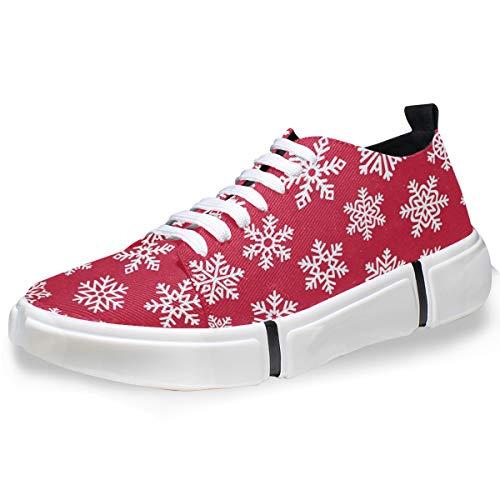 DEZIRO Christmas Eve Snowflake - Scarpe da Ginnastica Casual da Uomo, (1), 41 EU