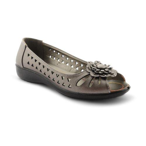 Footwear Sensation , Mocassins pour femme Noir noir Noir - Pewter