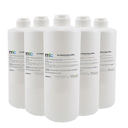 Ultraschall Gel - 5x 1kg Flaschen, Kontaktgel 5 kg, Leitgel, Übertragungsgel -