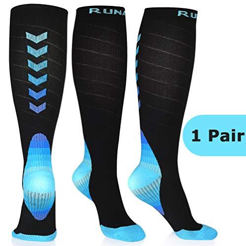 Kompressionsstrümpfe Kompressionssocken Compression Socks Laufsocken Strümpfe Kompression Thrombosestrümpfe für Laufen Radfahren Joggen Erholung Blutzirkulation Flug