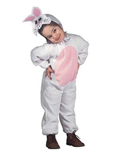 Taglia 110-3 - 4 anni - costume - travestimento - carnevale - halloween - coniglio animale - colore bianco - bambina