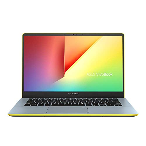 ASUS VivoBook S14 S430UF 90NB0J63-M00540 Notebook (35,6 cm, 14 Zoll, FHD, Matt, Intel Core i7-8550U, 8GB RAM, 256GB SSD, 1TB HDD, NVIDIA MX130 (2GB), Windows 10 Home) silver blue yellow,