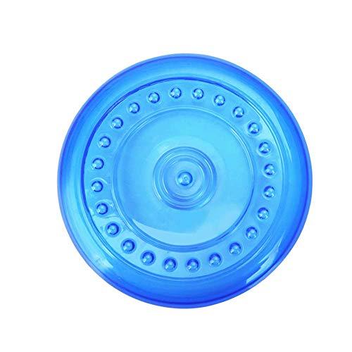 LIPETLI Hundefrisbee Hochwertiges TPR Sportspielzeug Frisbee ist Weich und Leicht für Große Mittlere und Kleine Hunde,Blue,S