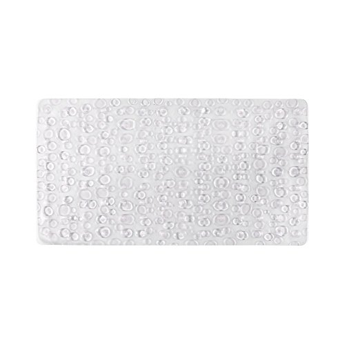 Freelance PVC Shower Mat, Bathroom Bath Tub Non Slip Grip Bathmat, Transparent (71 x 39 cm)