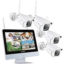 ANNKE Kit de Seguridad WiFi 1080P 4CH NVR con Monitor 12