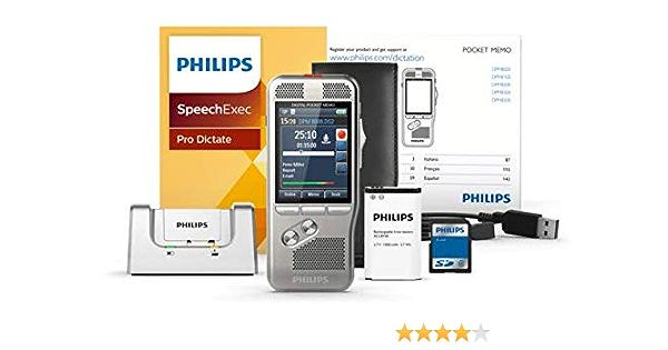 Philips Dpm8000 Digitales Diktiergerät Bedienung Per Schiebeschalter 3d Mikrofon Für Ausgez Stereo Tonaufnahmen Farbdisplay Edelstahlgehäuse Inkl Diktiersoftware Speechexec Pro 2 Jahres Abo Bürobedarf Schreibwaren