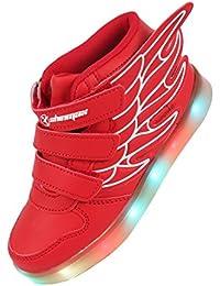 Shinmax Scarpe LED Primavera-Estate Nuovo Lanciato Kid LED delle Scarpe da Tennis Colore del LED 7 con Certificato CE