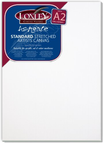 Loxley Canvas Markers Standard Stretched Artists - Lienzo, color blanco, A2 Canvas