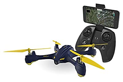 XciteRC 15030650Hubsan X4Star Pro FPV Quadcopter–RTF Drone with HD Camera, GPS, Follow Me, Waypoints, Coming Home, Battery, Charger and Remote Control, Navy Blue from Hubsan